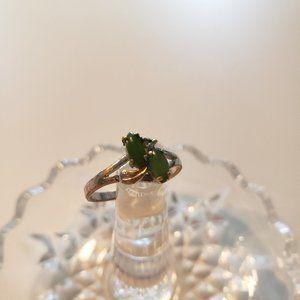 Vintage Jade Stone Silver Ring